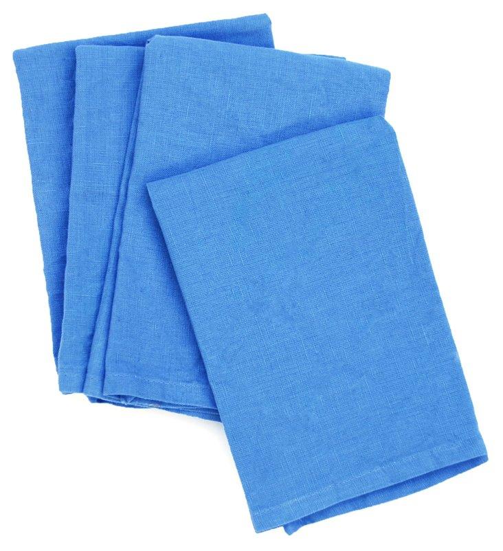 S/4 Linen Napkins, Blue