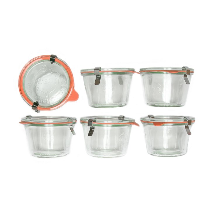 S/6 Weck Jars, 8.5 Oz