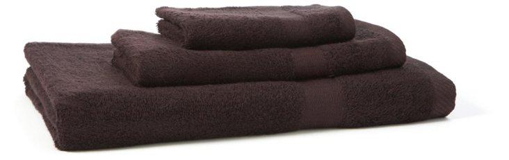 3-Pc Bamboo Towel Set, Black