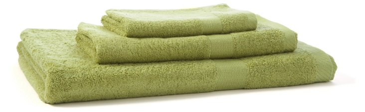 3-Pc Bamboo Towel Set, Kiwi