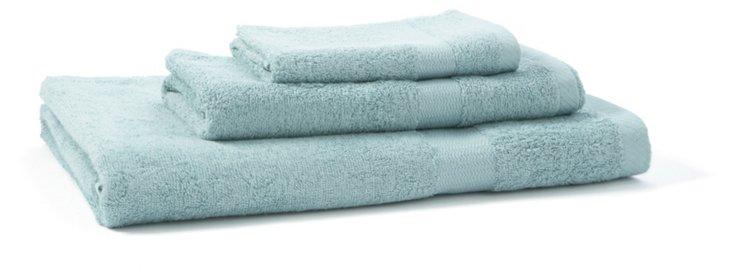 3-Pc Bamboo Towel Set, Blue Sage