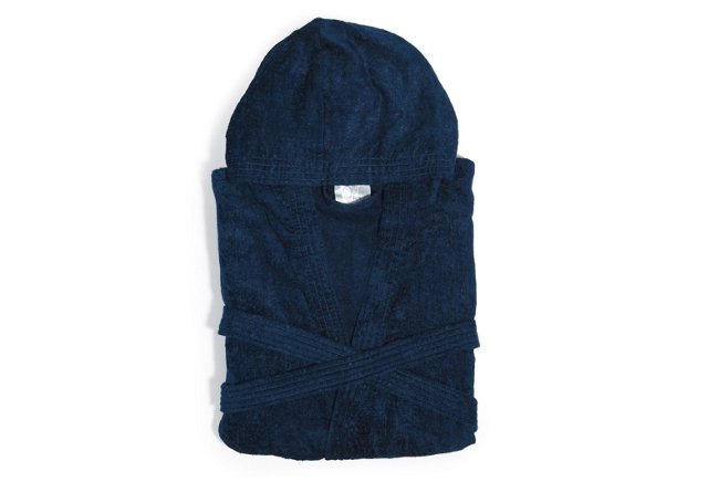 Hooded Bathrobe, Blue