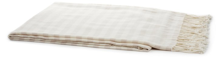Stripe Throw, Cream