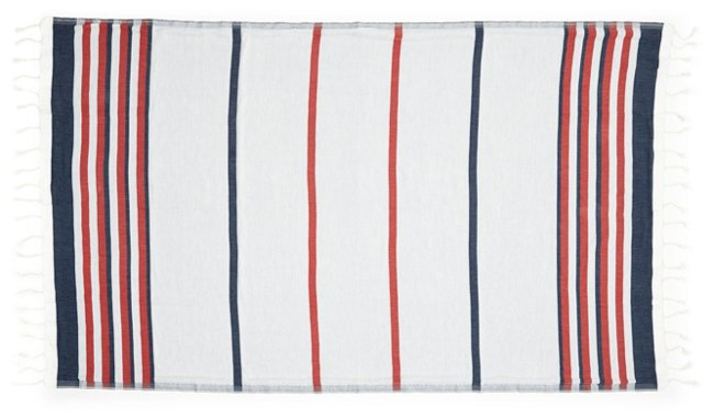 Marcel Beach Towel, Red/Blue