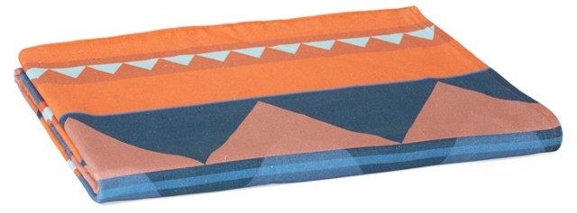 Savanna Beach Towel, Orange/Blue
