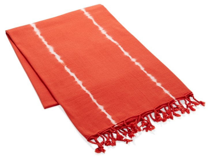 Tie Dye Beach Sarong Towel, Poppy