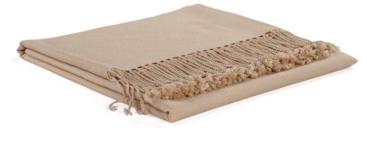 Solid Bamboo Throw, Ivory