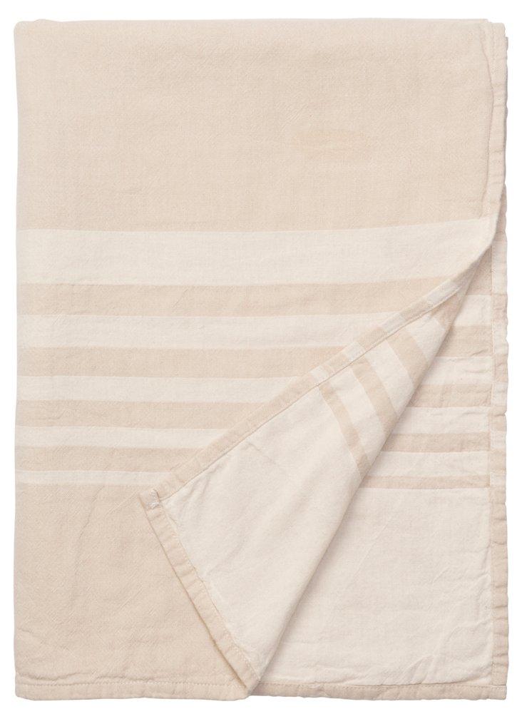 Bali Cotton Throw, Natural