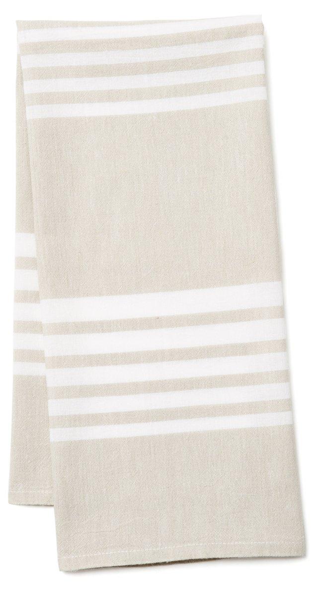 Bali Kitchen Towel, Beige