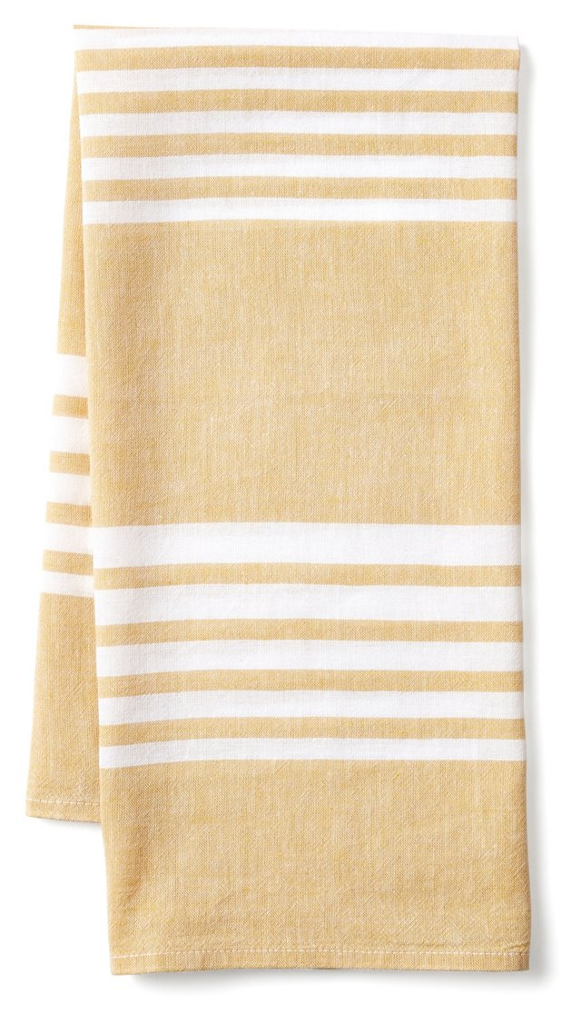 Bali Kitchen Towel, Gold