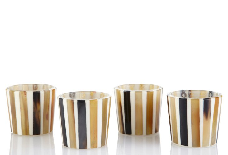 Set of 4 Stripes Votives