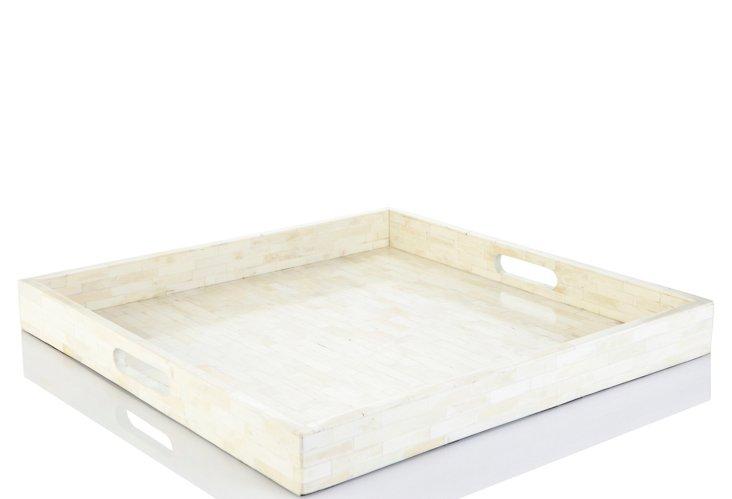 Square Bone Inlay Tray, Elaine