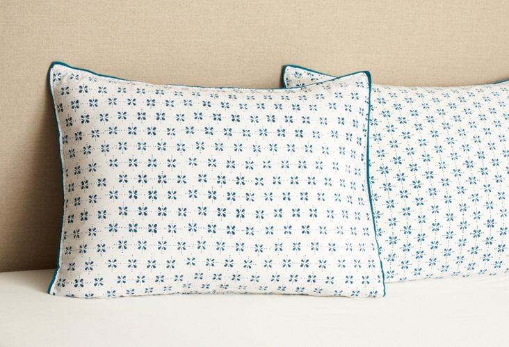 S/2 Std Pillowcases, Blue