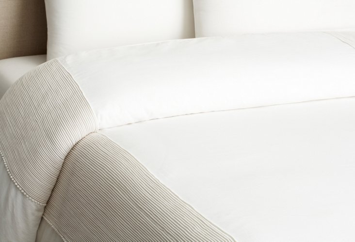 Queen Adele Duvet Cover, White