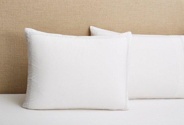 S/2 Anne Standard Shams, Gray/White