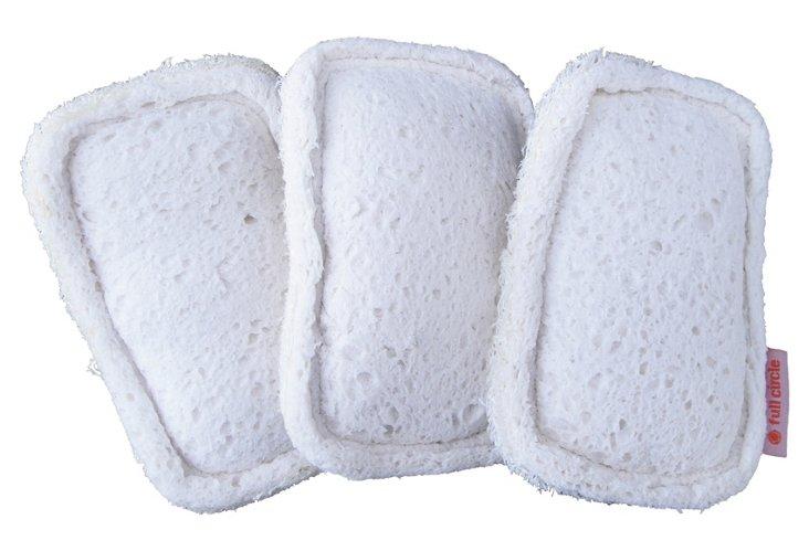 S/9 Flip Scrubber Sponges, White
