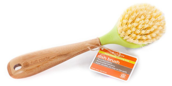 S/3 Be Good Dish Brushes, Green