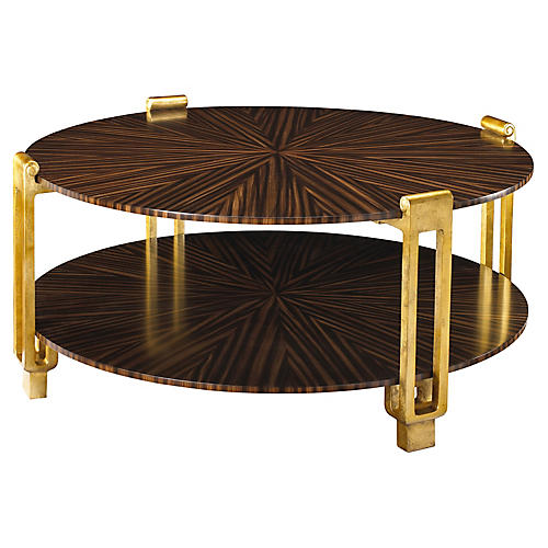 Rob Roy Coffee Table, Dark Zebrawood