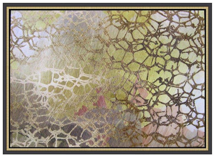 Golden Nest Lacquer Framed Art