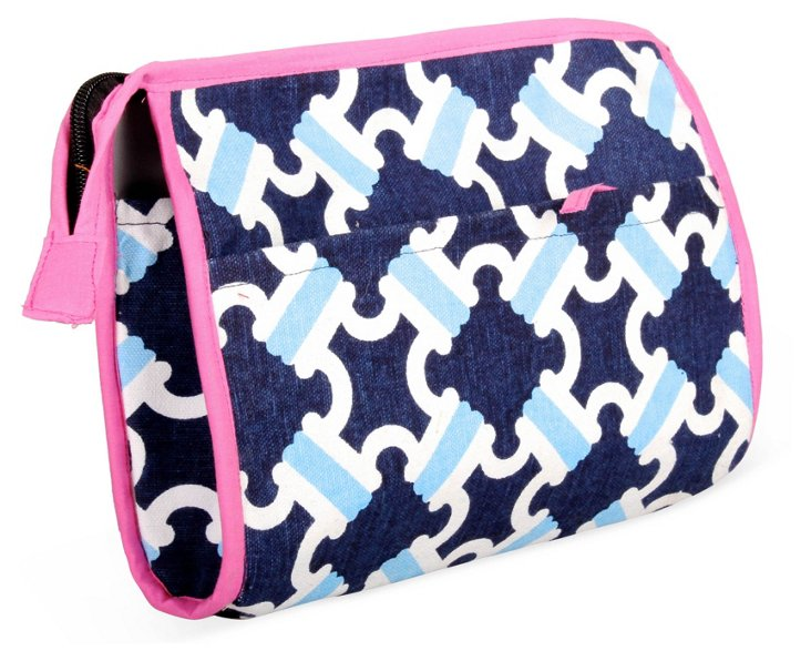 Catalina Cosmetic Case, Blue