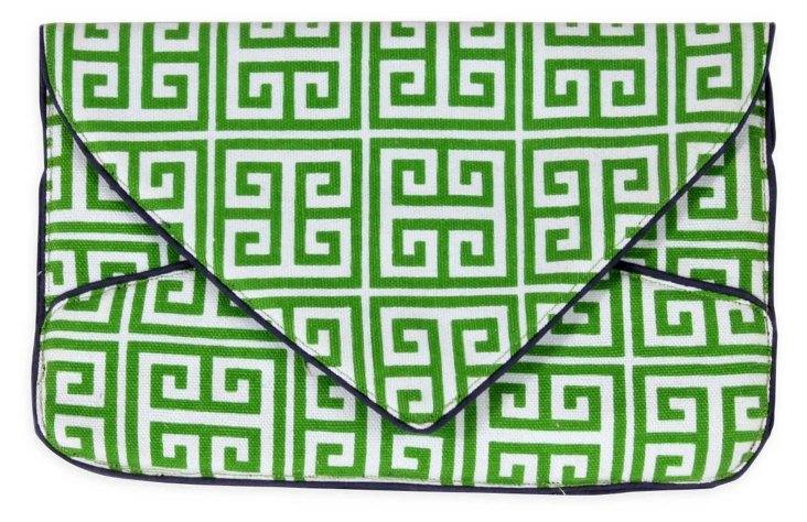Greek Key Envelope, Green