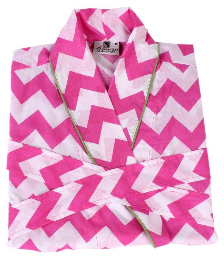 Chevron Pink Robe