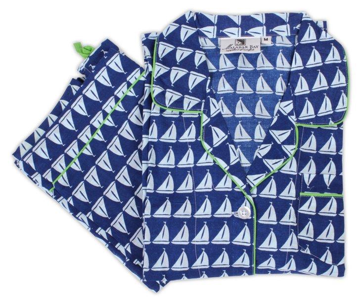 Annapolis Pajama Set, Navy