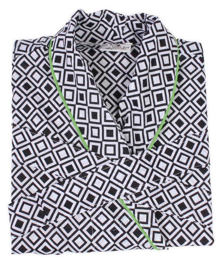 Medium/Large Modern Squares Black Robe