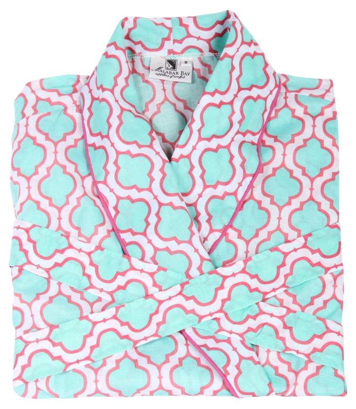 Chelsea Robe, Aqua/Pink