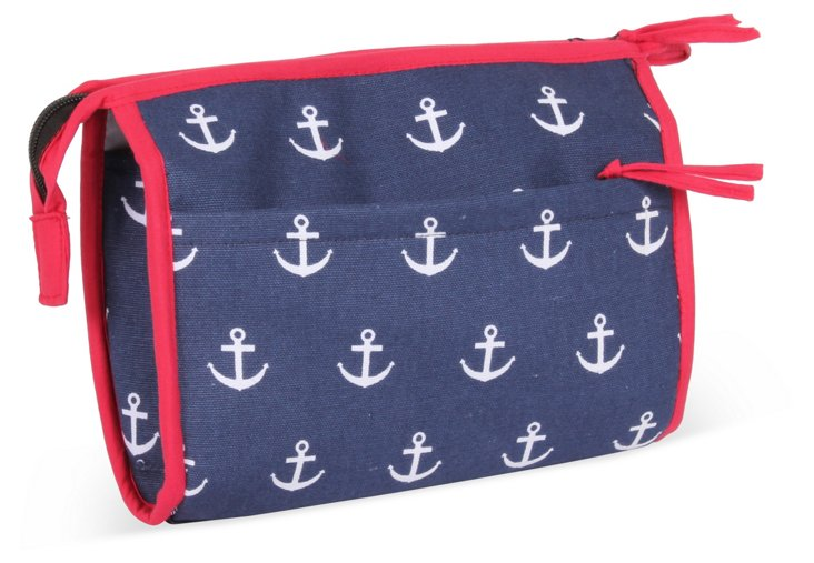 Anchor Cosmetic Case, Navy