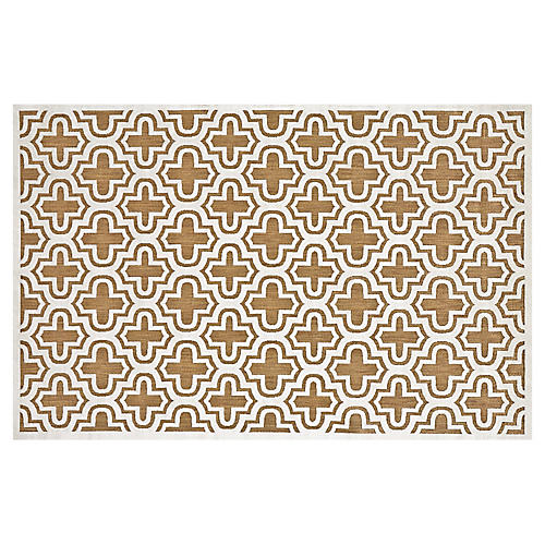 Moulene Outdoor Rug, White