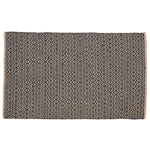 Howth Outdoor Rug, Black/Tan