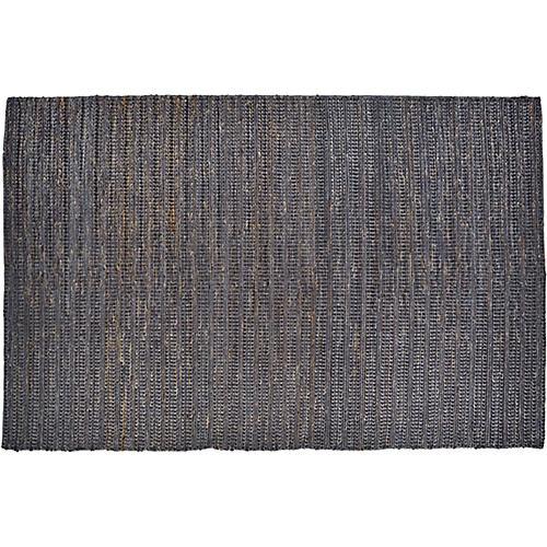 Elston Flat-Weave Rug, Onyx