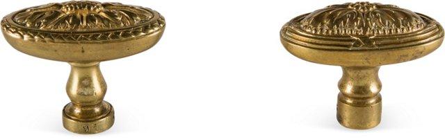 Louis XVI-Style Knobs, Pair