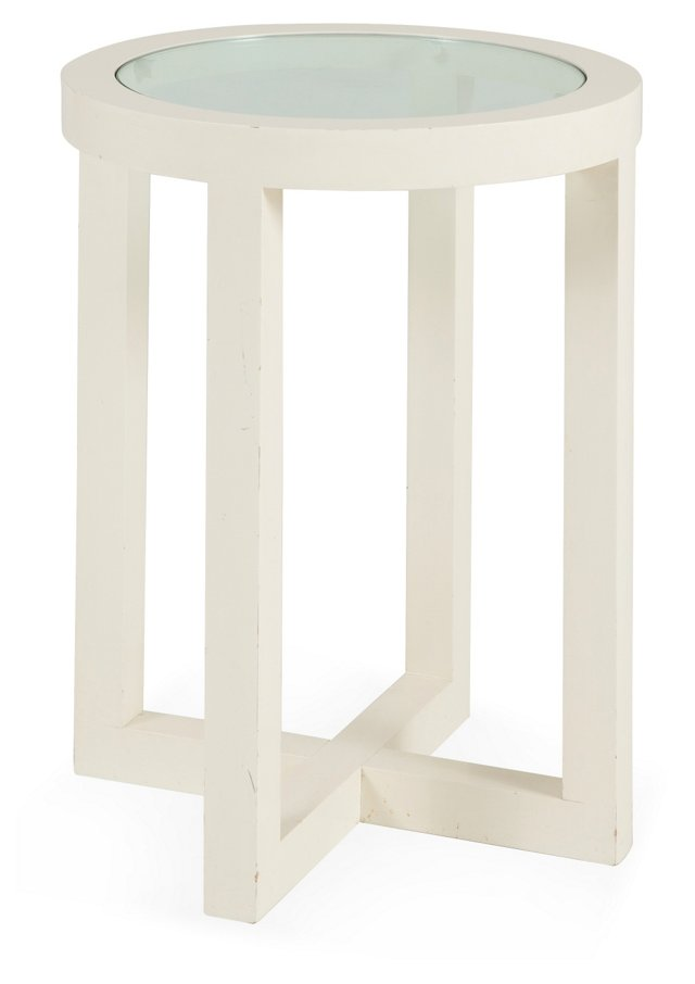 Anthony Ames Side Table, White