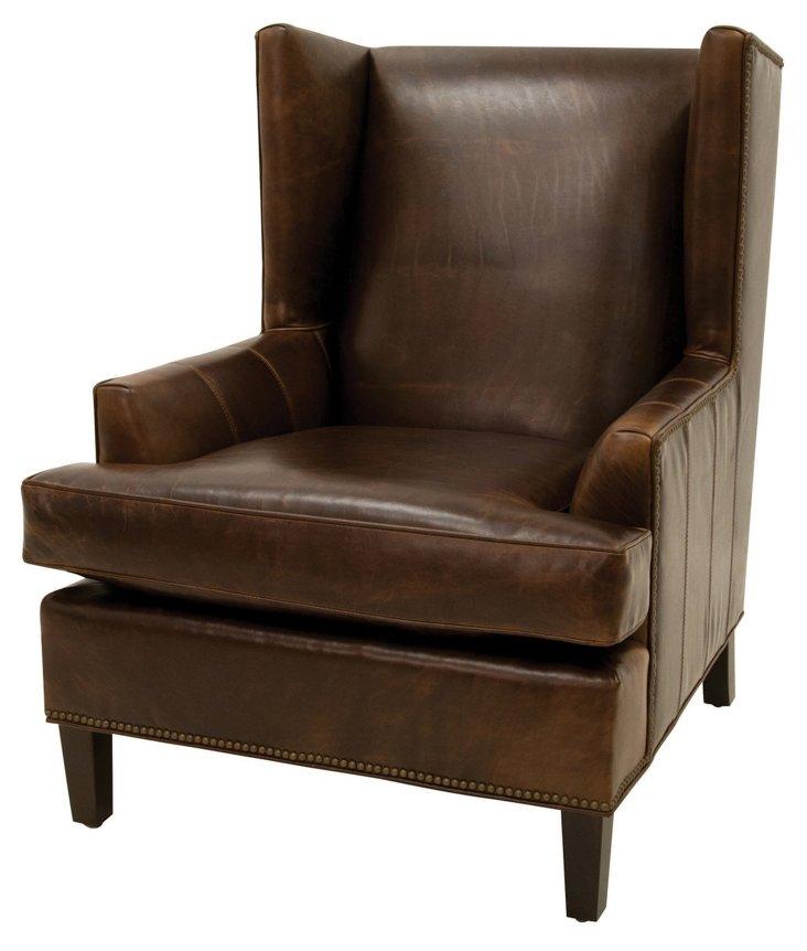 Bucks Wingback Chair, Coco