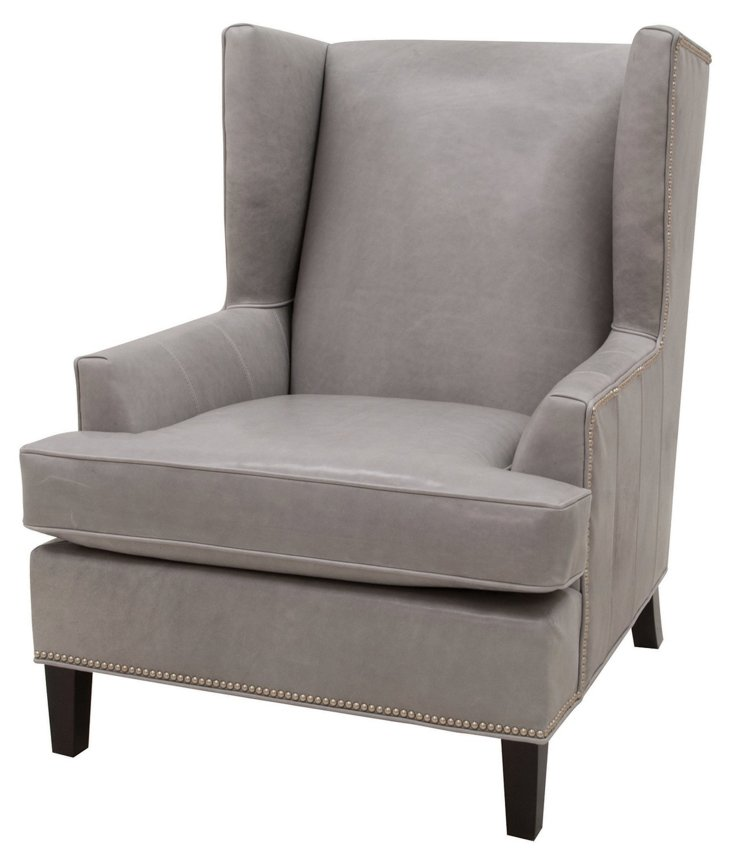 DNUBucks Wingback Chair, Dove
