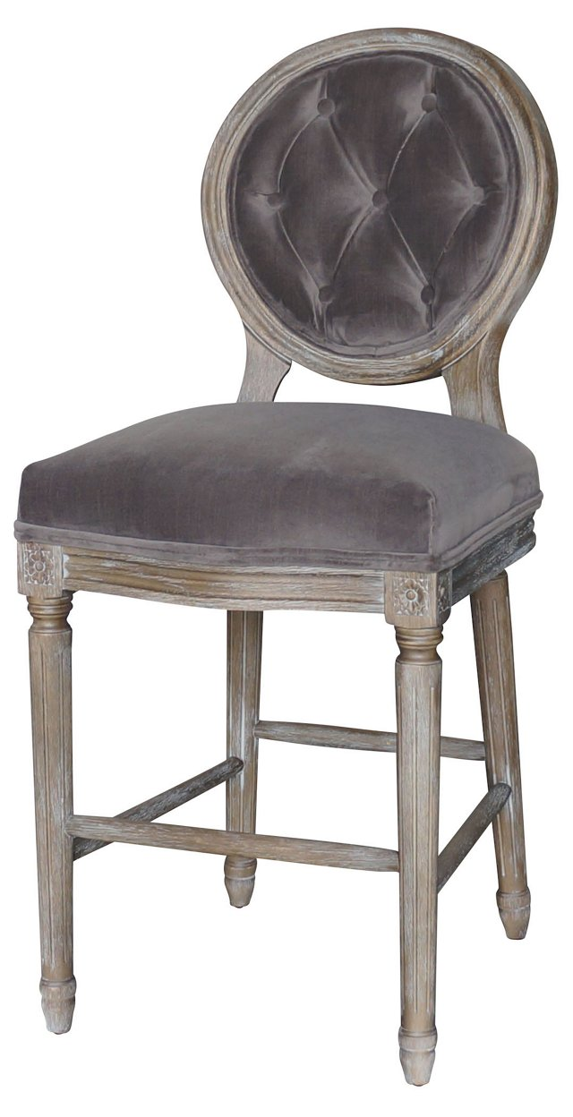 Sully Counter Stool, Gray