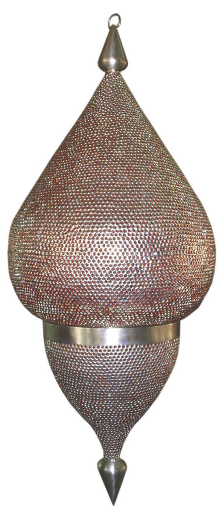 Lebanese Large Drop Lamp, Orange