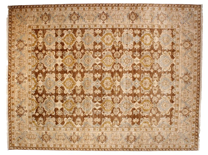 9'x12' Persia Rug, Mocha/Ivory