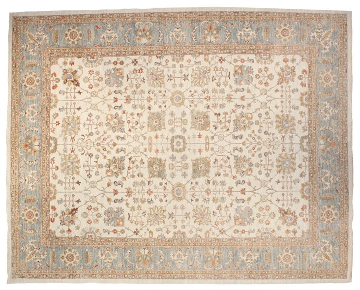 "9'5""x11'9"" Carrington Rug, Ivory"