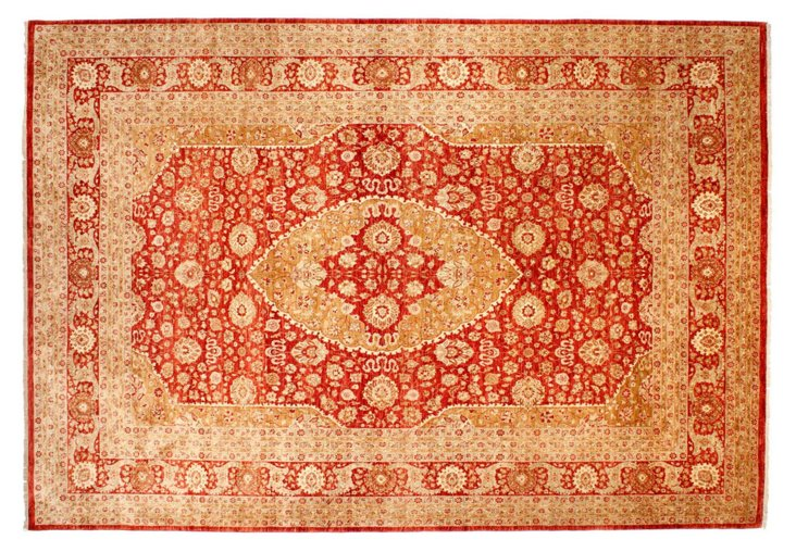 "9'9"" x 13'9"" Diya Rug, Red/Gold"