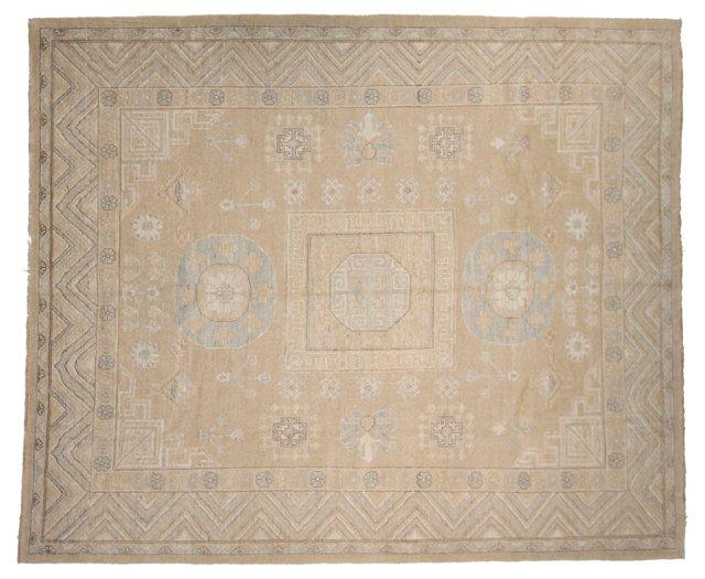 "8'3""x9'10"" Royal Khotan Rug, Beige/Ivory"