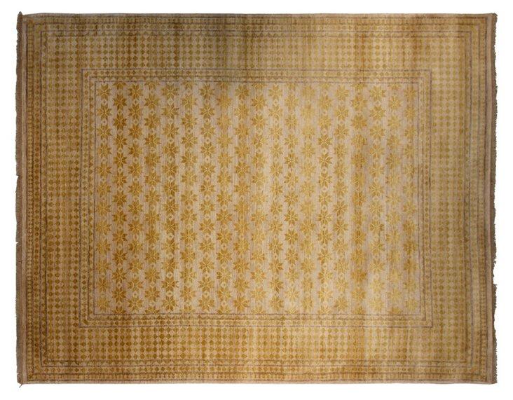 """8'x10'3"""" Khotan Rug, Ivory/Sun"""