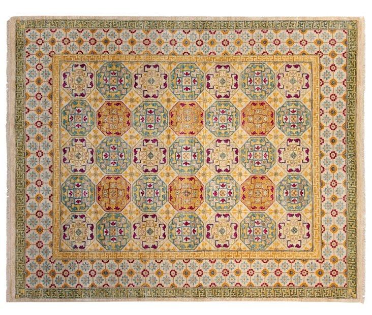 8'x10' Khotan Rug, Ivory