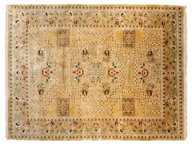 "9'1""x12'1"" Holland Rug, Gold/Multi"