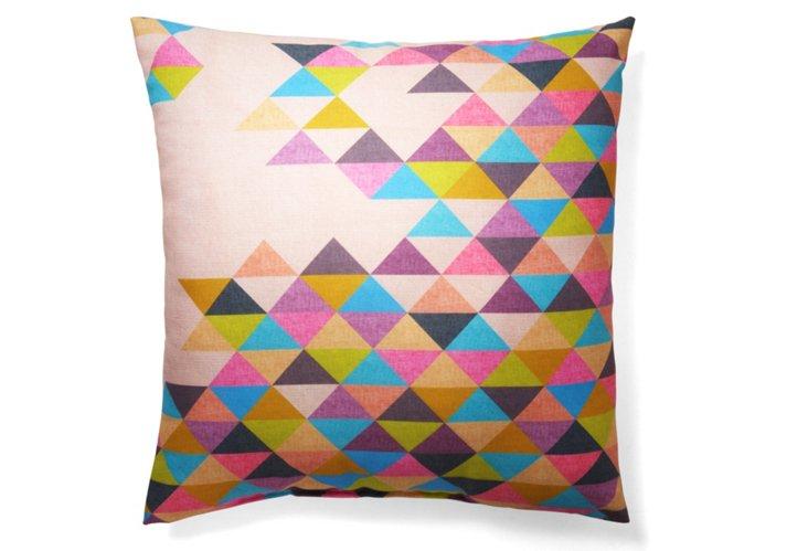 Triangles 20x20 Pillow, Multi