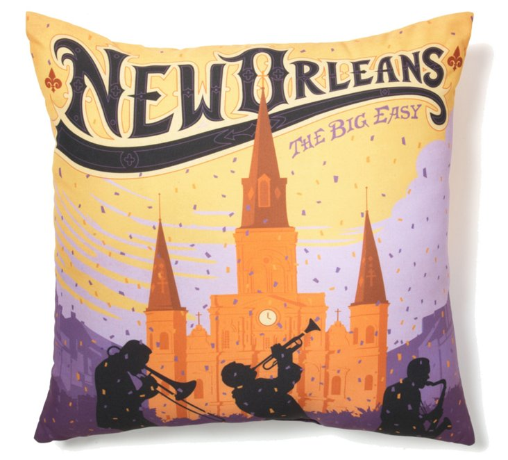 New Orleans 20x20 Pillow, Multi