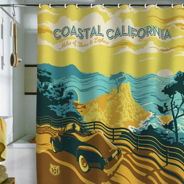 Anderson Coastal Cali Shower Curtain