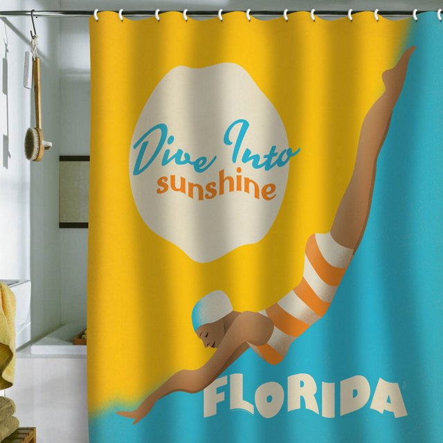 Anderson Dive Florida Shower Curtain